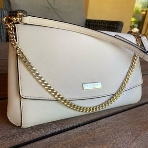 Kate Spade pale pink purse with chain